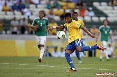 Neymar scores! confederations cup