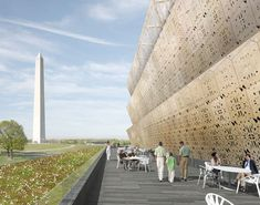 Smithsonian National Museum of African American History and Culture in Washington DC designed by architect David Adjaye.