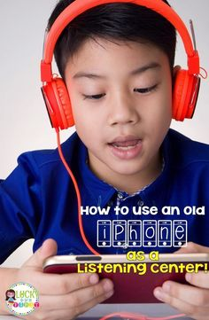 How to Use Old iPhones as Listening Centers! It's simple to convert your old cassettes into MP3s! Ask parents to donate old cell phones to use in your classroom! Check out the step-by-step directions for setting up the old phones! via /mbuckets/