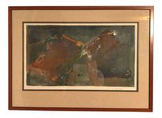 Starlie Sokol Hohne Signed Abstract Mixed Media Painting on Chairish.com