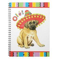 #Fiesta Mastiff Spiral Notebook - #mastiff #puppy #dog #dogs #pet #pets #cute
