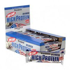Weider low carb proteine bar is hoog in eiwitten en laag in koolhydraten.