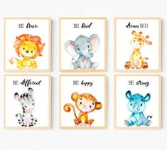 Set of 6 Safari Nursery Prints Baby Boy Nursery Decor Be Brave Be Kind Be Strong Baby Boy Wall Decor Safari Decor Boys Safari Baby Animals Baby Boy Nursery Decor, Safari Nursery, Baby Boy Nurseries, Nursery Prints, Safari Decorations, Baby Prints, Baby Animals, Wall Decor, Brave