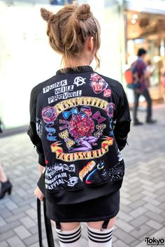 Miss Misfits Bomber Jacket by Kobinai | I think I'd fit right in in Tokyo