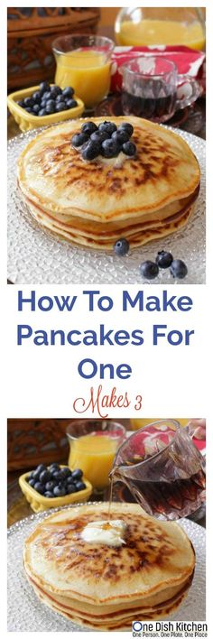 How To Make Pancakes for one! This easy recipe makes a small batch of pancakes . - How To Make Pancakes for one! This easy recipe makes a small batch of pancakes and is perfect for - Pancakes For One, Pancakes For Dinner, How To Make Pancakes, Breakfast For Dinner, Best Breakfast, Breakfast Ideas, Breakfast Recipes, Breakfast Club, Cooking For One