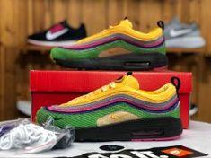 71597bf0b025 Nike Air Max 97 1 Sean Wotherspoon Yellow Powder Green Purple AJ4219 407  Sneaker Women s