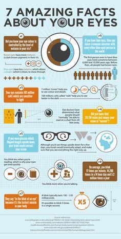 7 datos asombrosos sobre los ojos #infografia #infographic #health
