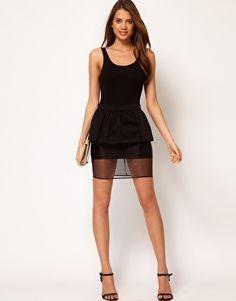 ASOS Pencil Skirt With Peplum
