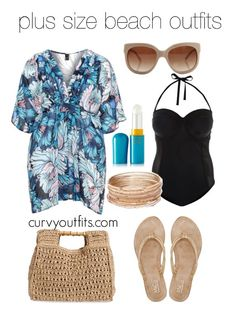 5 plus size beach outfits to wear this summer #plussize #outfit