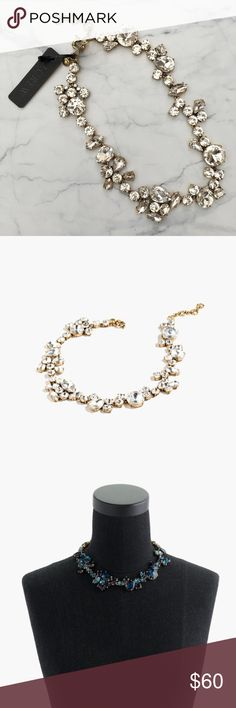 J.Crew statement necklace This STUNNINGLY necklace (the crystal foliage necklace) is completely sold out; and it's easy to see why! This beauty is brand new with tags. J. Crew Jewelry Necklaces