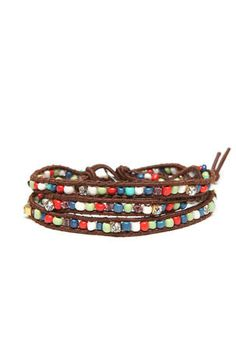 LaughPing- Stretch Beaded Wrap Bracelet $7.99
