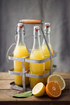 citrus + bottles / {if you know the photographer let me know!}