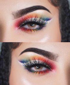"Rainbow eyeshadow with #queenbrown @oliviaswaida. Use code ""TTDPIN"" get 10% off. #contactlenses#coloredlenses#glitters#beautifulmakeup#eyemakeup#like4like#coloredcontacts#contactsonline#eyecontact#ordercontactsonline#cheapcontactlenses#makeuptrend#flawlesssdolls#dressyourface#influencer#bblogger#cosmeticlens#fashionmakeup#makeupworld#likeforlike#eyesmakeup#contactlenses#contactlens#makeup#makeupoftheday#ttdeye"