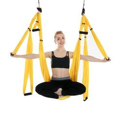 Search For Flights Anti Gravity Yoga Accessories Air Hammock Yoga Stretch Belt Extender Strap Rope Carabiner Ceiling Mounting Anchor Soft And Antislippery Yoga Sports & Entertainment