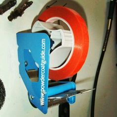 Powder coating tape dispenser. Stop fumbling with the tape while masking.