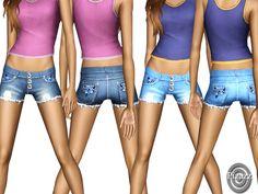 Jean Shorts by Pizazz - Sims 3 Downloads CC Caboodle