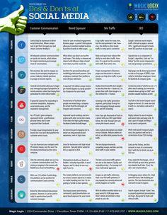 Do's and Dont's of Social Media #infografia #infographic #socialmedia