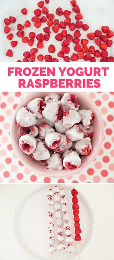 Frozen Yogurt Raspberries: Easy Kid Snack. A refreshing and healthy kid snack perfect for summer days with just 2 ingredients.