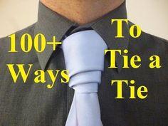 How to Tie a Tie Van Wijk Knot - YouTube