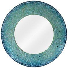 Mirror Mosaic, Mirror Wall Art, Diy Mirror, Mosaic Glass, Glass Art, Bathroom Mirrors, Mirror Ideas, Beach Mirror, Nautical Mirror