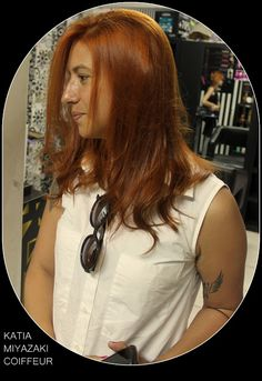 Katia Miyazaki Coiffeur - Salão de Beleza em Floripa: coloração ruivo - cabelo médio - brilhoso -  hidra...