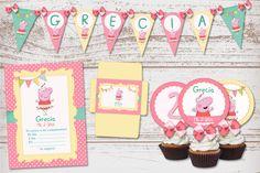 Kit Imprimible Peppa Pig Bailarina para cumpleaños de nena.