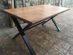 Mesa estilo industrial vendida por Cousin mobiliario en wallapop zona Madrid ventas precio 320 euros