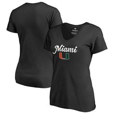 Miami Hurricanes Fanatics Branded Women's Plus Sizes Freehand Pullover Hoodie - Black