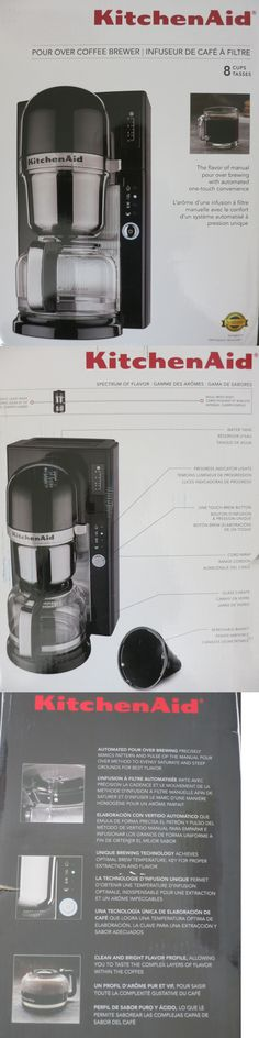 Kitchenaid 8 Cup Pour Over Programmable Coffee Brewer Black NIB Free Shipping
