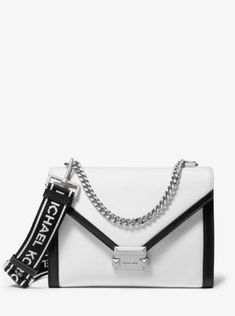 7b5ea747f9965 MICHAEL Michael Kors Whitney Large Pebbled Leather Convertible Shoulder Bag