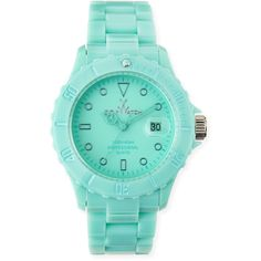 toy watch 39mm plasteramic watch aqua 11020 rub liked on polyvore featuring - Turquoise Home Decor Accessories