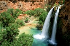 Hike to Havasu Falls with REI. Hiking and camping deep in the Grand Canyon. Havasupai, towering waterfalls, deep azure pools and more.