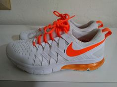 4ede91518a Nike Air Max Fingertrap Mens Shoes Size 13 White Orange 644673-180 #Nike  #CrossTrainingShoes