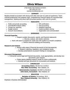 staff accountant resume sample