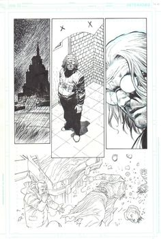 ACTION COMICS 685 pg 21 original COMIC art by JESUS MERINO SUPERMAN Family - W.B.