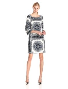 Printed Shift Dress by Laundry by Shelli Segal