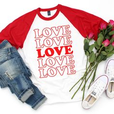 Use these 15 FREE Valentine SVG files to make your own Valentine's Day shirts, decor, tote bags, mugs, and more! We LOVE this Totally Free SVG collection! Valentines Day Shirts, Love Valentines, Valentine Crafts, Valentine Ideas, Make Your Own Shirt, Vinyl Shirts, Funny Shirts, Custom Shirts, Cricut Craft Room