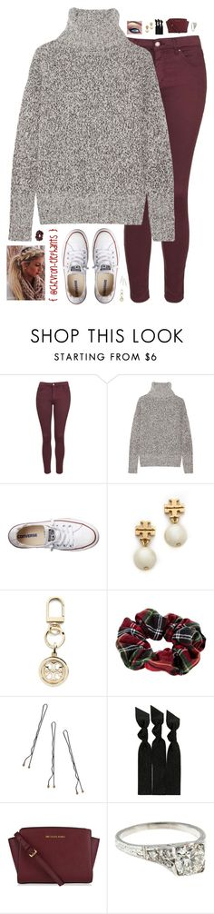 """""""Tell the truth. After all, how could the truth make anything worse?"""" by chevron-elephants ❤ liked on Polyvore featuring Topshop, Theory, Converse, Tory Burch, River Island, Conair and Emi-Jay"""