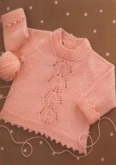 Вязание для малышей пуловера Lace Panel Pullover
