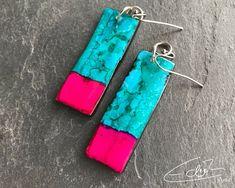 Freue mich, euch diesen Artikel aus meinem Shop bei #etsy vorzustellen: Ohrringe in Pink und Blaugrün aus der Rêves de Mèr Collection Artisan Jewelry, Personalized Items, Pink, Etsy, Schmuck, Blue Green, Craft Gifts, Handmade, Pink Hair