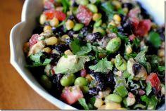 Edamame Black Bean and Corn Salad