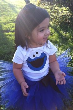 Adorable cookie  monster tutu with onesie/shirt FREE PERSONALIZE. $39.59, via Etsy.
