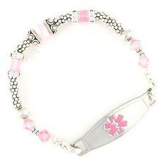The Rose Beaded Medical Bracelets