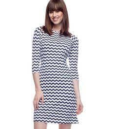 J.McLaughlin MARI PRINT BOATNECK DRESS