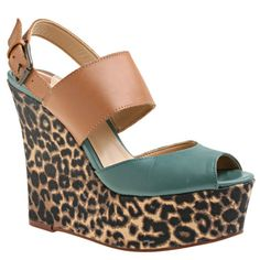 dc54408b0034 The Unstopable Nine West Wedge  leopard  wedge  sandal  ninewest  fashion