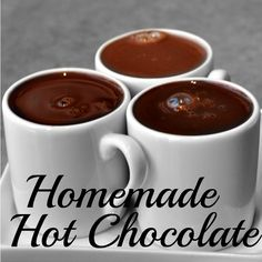 Quick and easy homemade hot chocolate with yummy add-on suggestions.