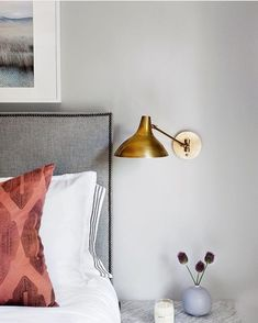 Wall Mounted Lights For Bedroom Delectable Restful Neutrals Bedside Table  Bedroom Charms  Pinterest Design Ideas