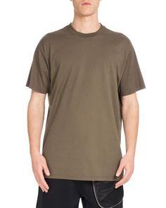 GIVENCHY Columbian-Fit Logo-Embroidered T-Shirt, Khaki. #givenchy #cloth #