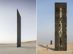 Richard Serra_Qatar desert