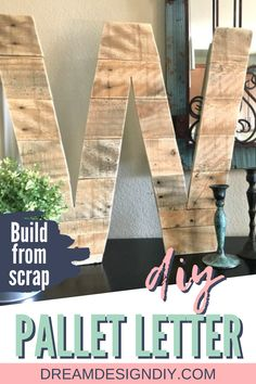 Make this cheap and easy project out of pallets or scrap wood and add some personalized rustic decor to your home. #pallets #diy Cool Woodworking Projects, Diy Wood Projects, Diy Woodworking, Wood Crafts, Diy Crafts, Homemade Home Decor, Diy Home Decor, Diy Design, Design Ideas